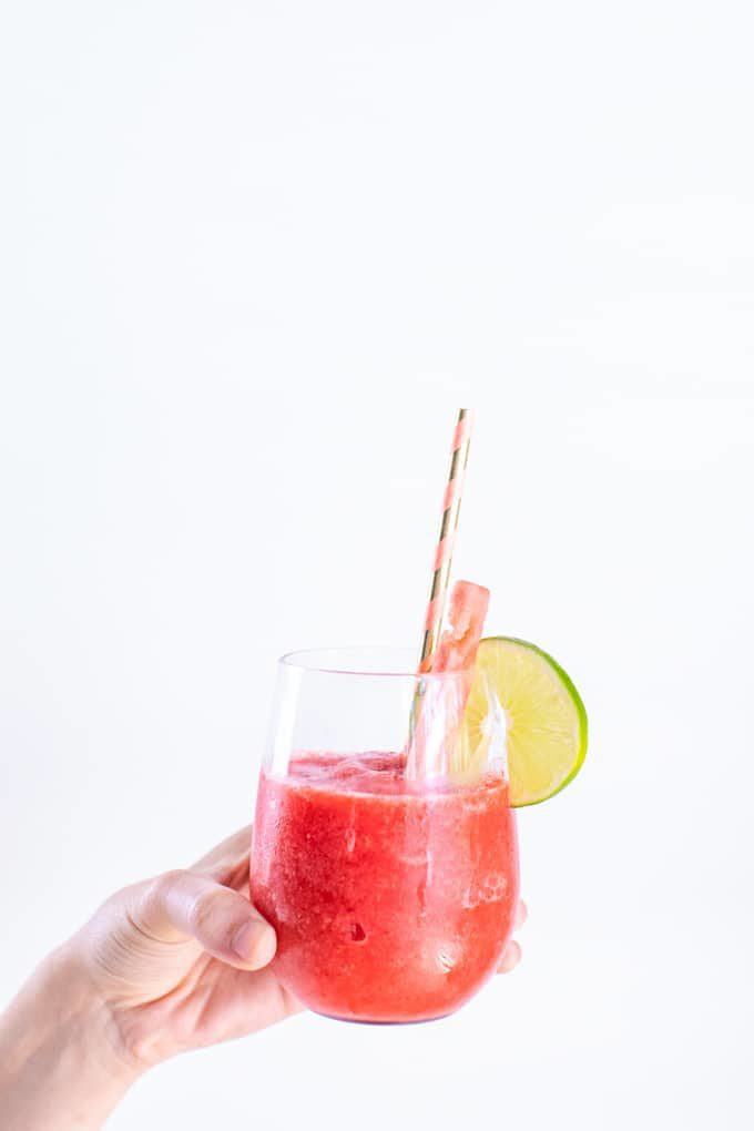 A Frozen Rosé Wine Slushy is the perfect summertime beverage.