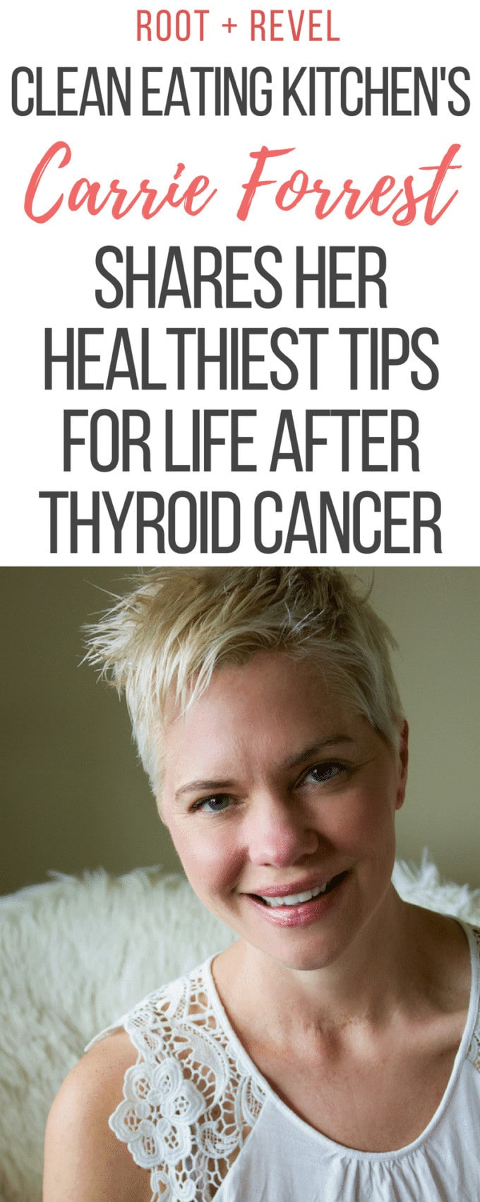 In this inspiring interview, Carrie Forrest--the blogger behind Clean Eating Kitchen and creator of the podcast Clean Eating for Women--shares her healthiest tips for life after thyroid cancer. Carrie has also used a real food diet to recover from and manage multiple health conditions including PCOS, chronic migraines, anxiety and autoimmune disease.