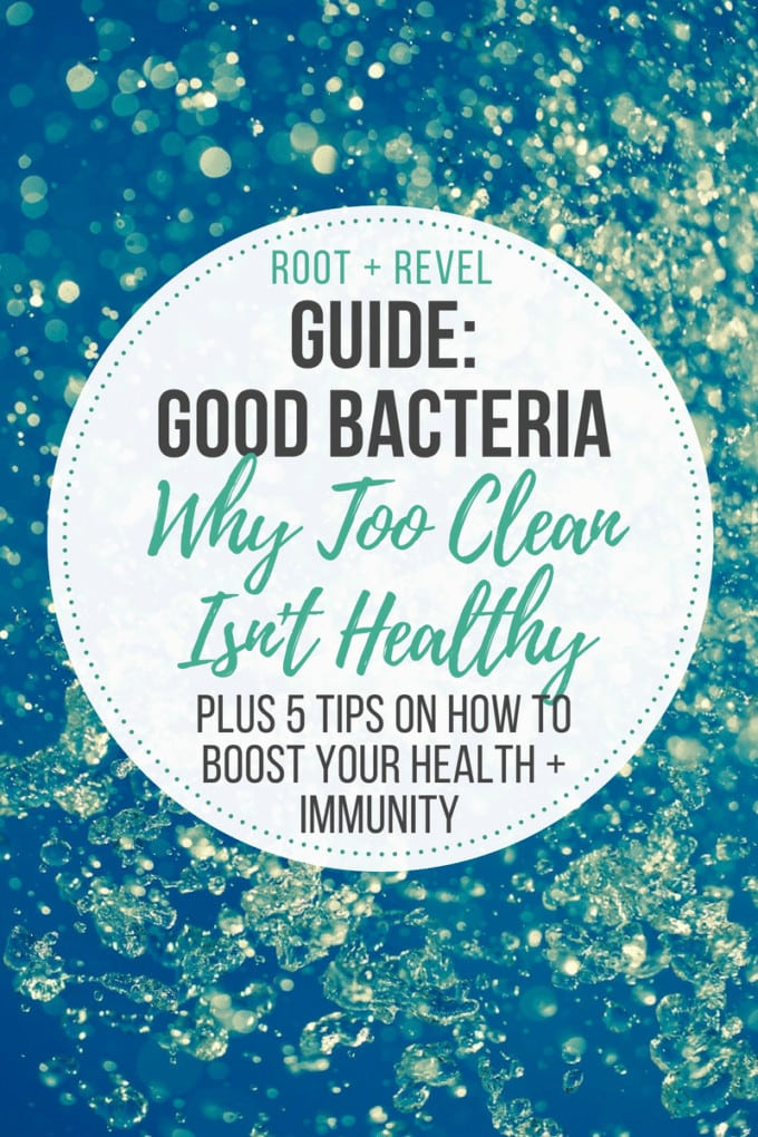 Think all bacteria is bad? Think again! In this Guide to Good Bacteria, we share the dangers of over-sanitation and how being too clean can lead to many serious diseases and infections, including gut problems and immune disorders. Discover five tips on how to boost health, digestion, and immunity by increasing your exposure to the right kind of good bacteria (bonus: you'll likely even lose weight!).