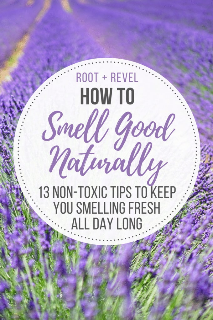 In this guide on how to smell good naturally, we reveal 13 tips to help keep you smelling fresh all day long--even in the scorching summer heat!--and reduce (or even eliminate!) body odors, all while steering clear of toxins, synthetic fragrance and other harmful ingredients. These tips go beyond essential oils!