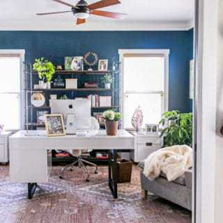 Home Office Design: Chic Modern Industrial Office Reveal