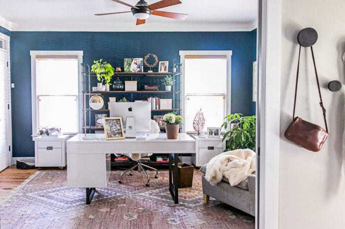 Modern home office design White Looking For Ideas And Inspiration For Home Office Design Our Modern Farmhouse Just Got Root Revel Home Office Design Chic Modern Industrial Office Reveal Root Revel