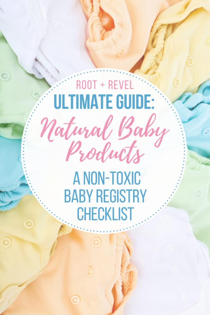 Looking for Natural Baby Products? This Non-Toxic Baby Registry Checklist is chockfull of ideas and tips for the best eco-friendly, organic baby products, from cribs and nursery furniture to skincare and bath products to strollers, car seats and bottles. All the must haves for new moms so you'll have everything you need, all the essentials, plus peace of mind knowing your baby is safe!
