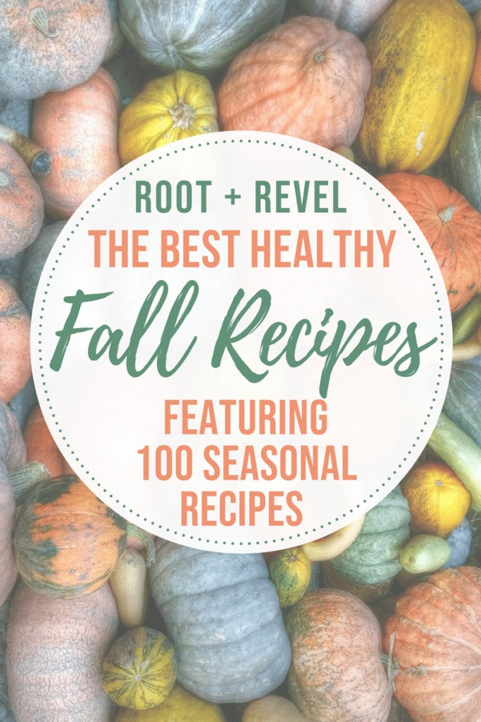 In this guide to healthy fall recipes, we're showcasing ten of the most popular seasonal ingredients for fall and we've rounded up 100 delicious recipes!