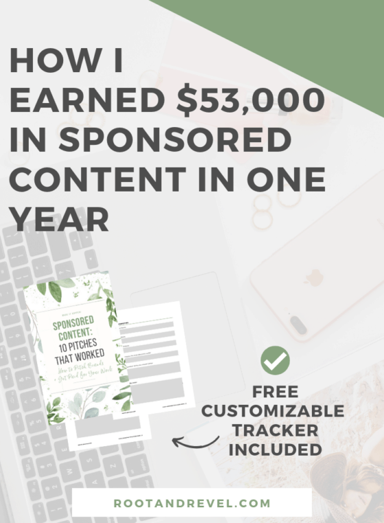 Monetizing an online business with sponsored content? In this guide to working with brands for bloggers, you'll learn how I earned nearly $54,000 from sponsored posts in one year of blogging, and how you, too, can increase your income by partnering with sponsors! We answer frequently asked questions from bloggers at all stages, plus reveal 6 steps you can take TODAY on how to pitch brands directly and make more money (even if you're a new blogger!).