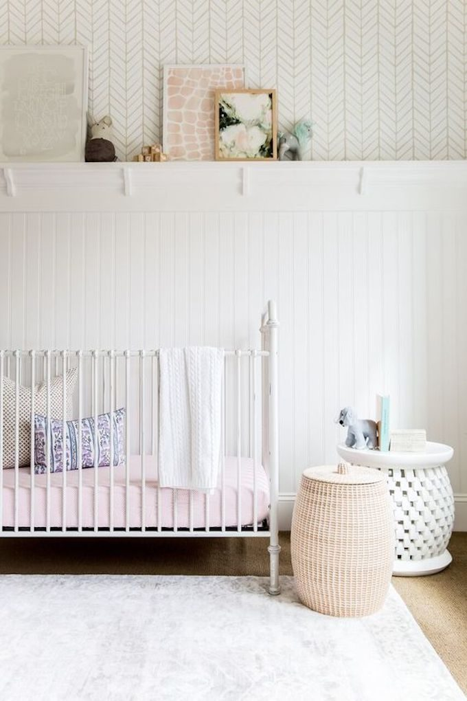 Baby Nursery: ideas, neutral, natural, boy, DIY, decor, art, crib, white, simple