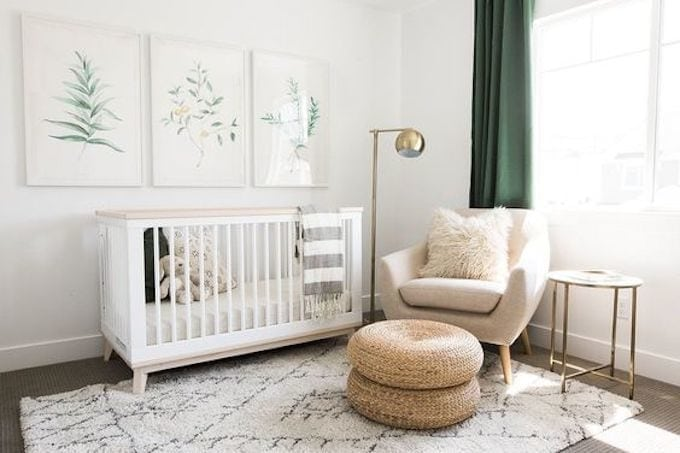 Baby Nursery: ideas, neutral, natural, decor, modern, crib, simple, furniture