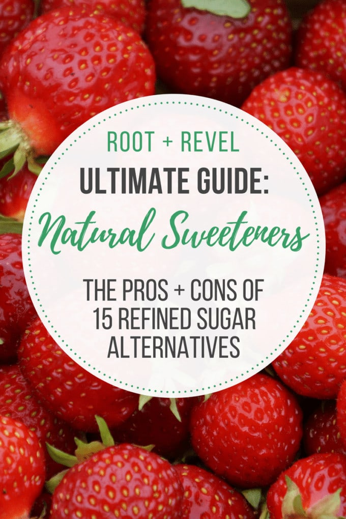 The Ultimate Guide to Healthy Natural Sweeteners Confused about all the different 'natural' sweeteners on the market? From regular sugar to refined sugar free options like honey, agave, and coconut sugar, to natural sweeteners like stevia, monk fruit and erythritol, to artificial sweeteners like Splenda and Sweet'N Low, we're breaking it all down and revealing the truth about 15 different natural sweeteners! Learn the differences between these sugar substitutes, the pros and cons, and what to look for when buying healthy natural sweeteners.