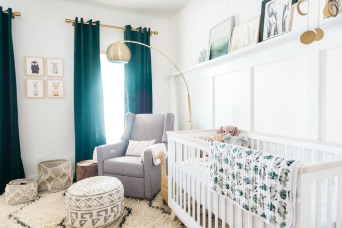 Baby Nursery: ideas, neutral, natural, boy, decor, modern, gold, teal, white