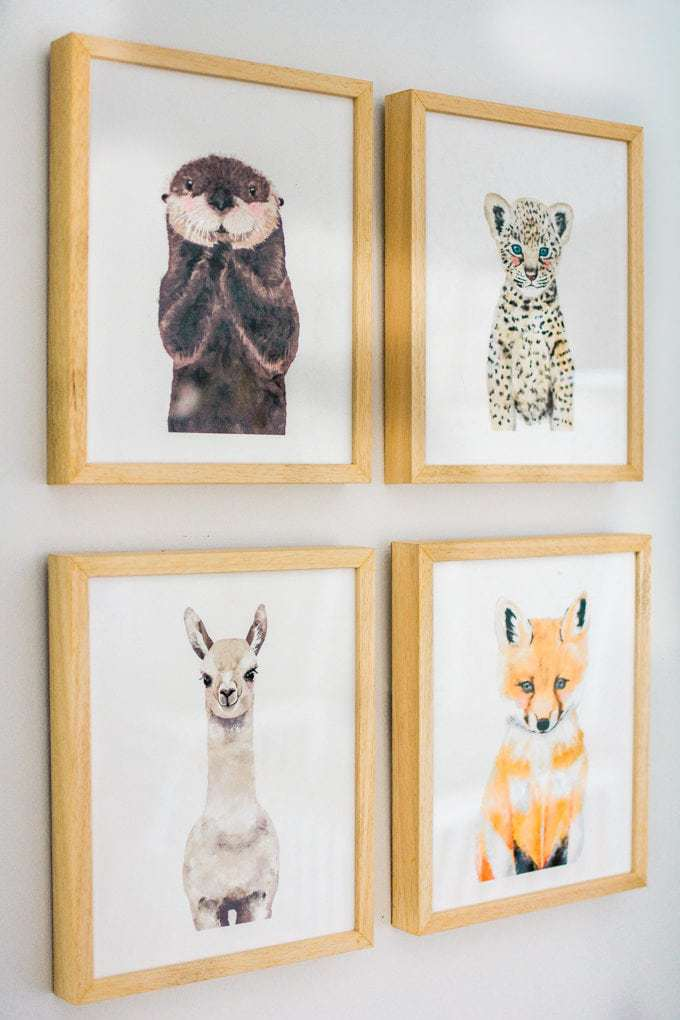 Baby Nursery: ideas, art, accent wall, neutral, natural, boy, decor, animals, woodland