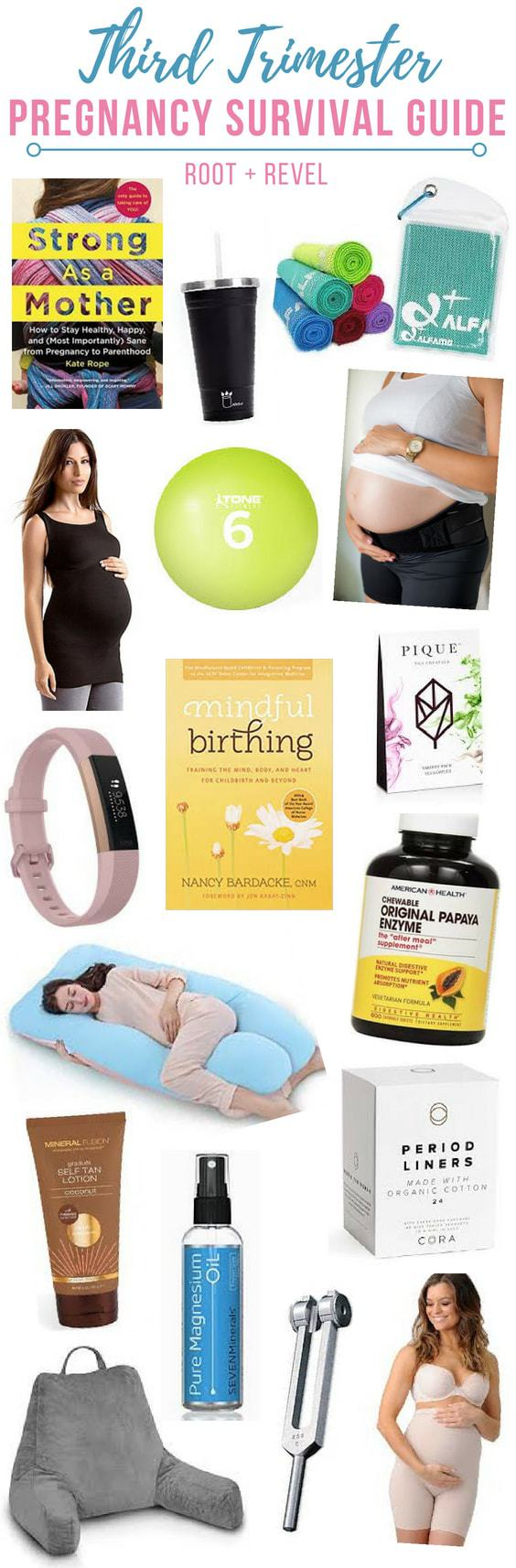 Calling all my fellow natural mamas-to-be! This Third Trimester Pregnancy Survival Guide will provide you with tips, tricks and product recommendations (from books and holistic remedies to maternity must-haves, and advice on diet and weight gain, nausea, and pains) to help you get through the home stretch of your pregnancy!