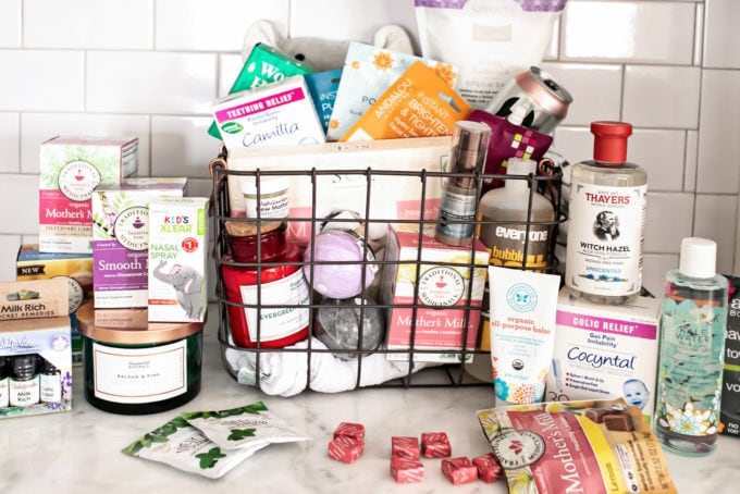 Need a gift idea for the new mama in your life? In this DIY new mom gift basket, we've put together a creative care package of natural, healthy items to perfectly support any woman, from at-home pampering products to herbal remedies for breastfeeding to natural baby treatments. This is the best new mom survival kit perfect for Mother's Day!