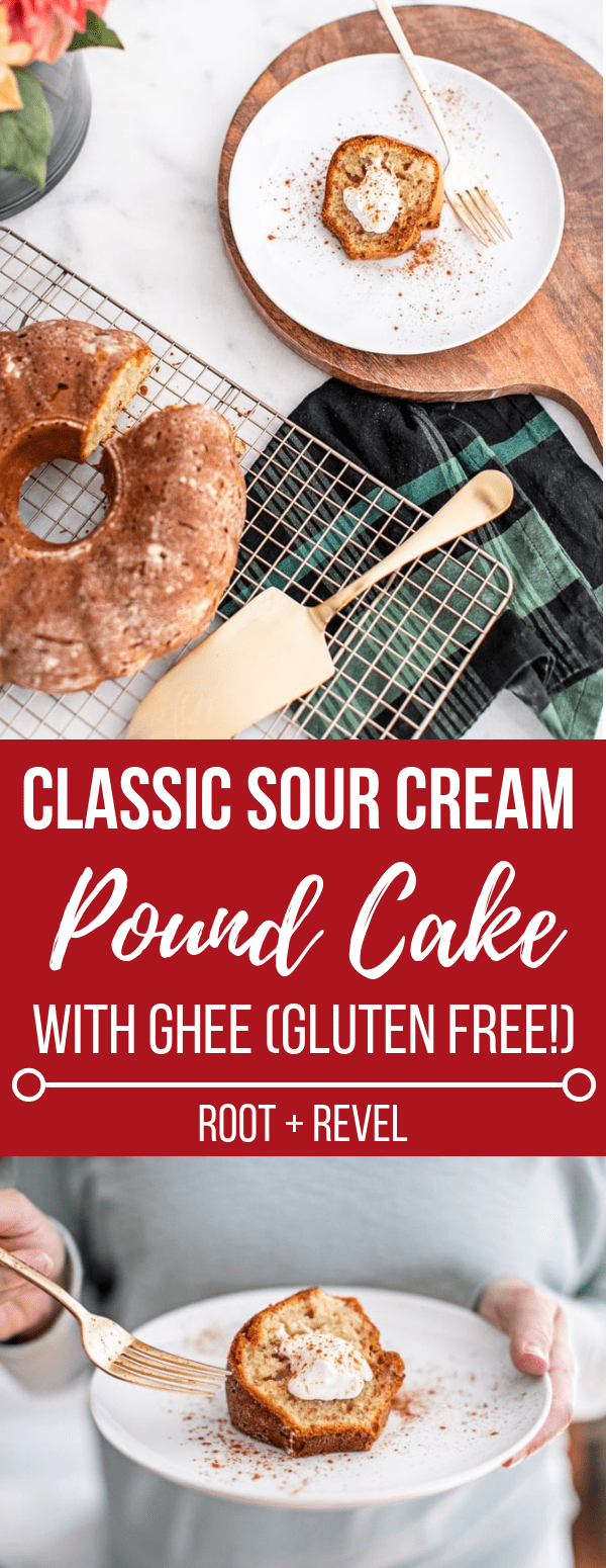 This old-fashioned dessert just got a healthy upgrade: classic sour cream pound cake delivers a moist, buttery, and yet light treat perfect for holiday entertaining. Using health-promoting ingredients like ghee, organic dairy and unrefined coconut sugar, this easy recipe is refined sugar free, gluten free and is sure to be a crowd pleaser!