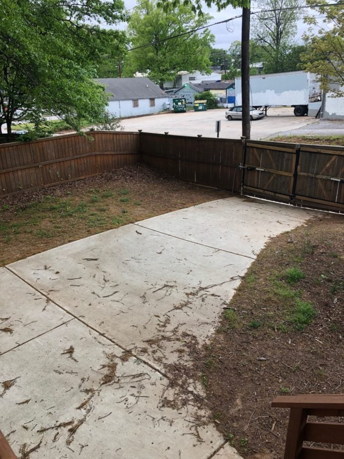 backyard design reveal: before photo