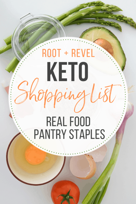 photo regarding Keto Shopping List Printable named Keto Browsing Record: Correct Foods Pantry Staples (+ Printable