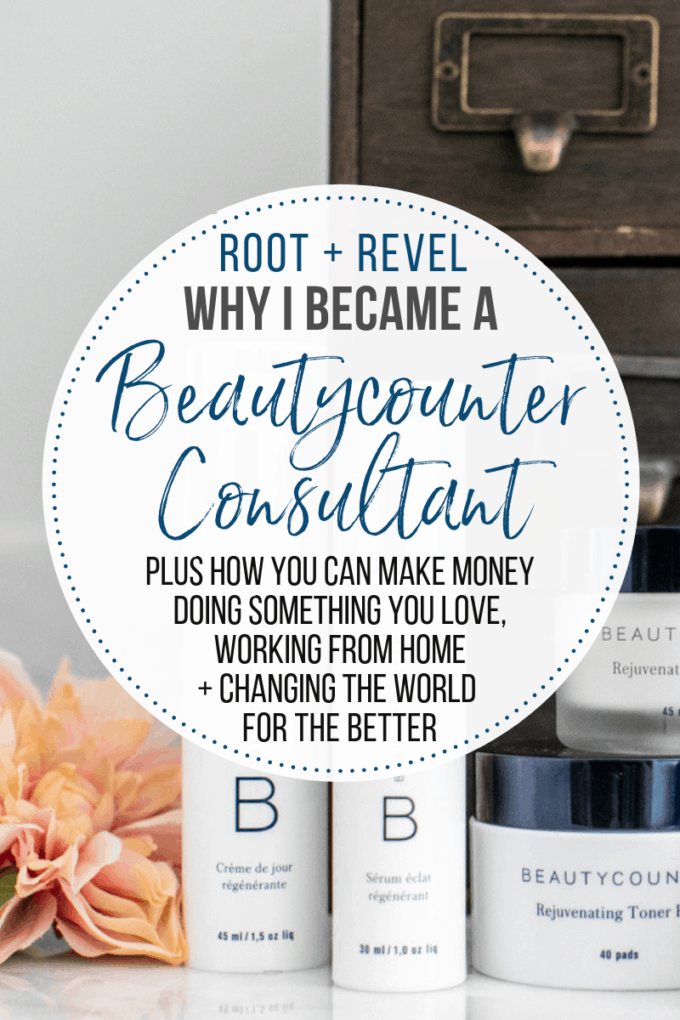 I'm a Beautycounter consultant making great money while changing the world. But it wasn't an easy decision. Here's an honest look at why I became a Beautycounter consultant that will help you decide if it's the right business for you. #beautycounter #betterbeauty #greenbeauty #consultant #mlm