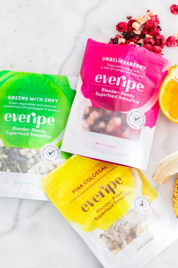 Best Healthy Smoothie Delivery Companies: Everipe, freeze dried fruit