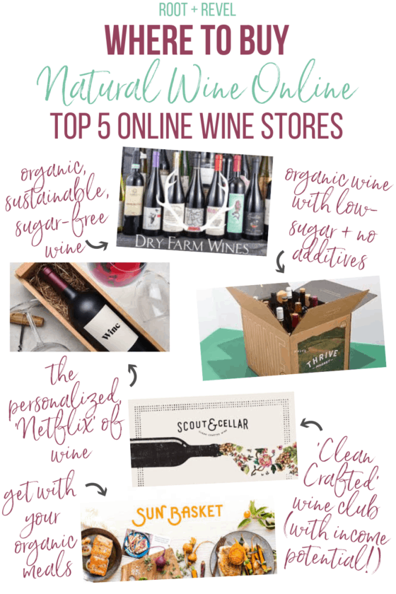 Wine lovers, rejoice! We've rounded up the top 5 online stores for where to buy natural wine online, including options for organic, biodynamic, sustainable, vegan, and low sugar (keto + Whole30) preferences. This simple guide will make your shopping easy (plus we've got some special savings+ discounts for you) so you can have your healthy wine and drink it, too!