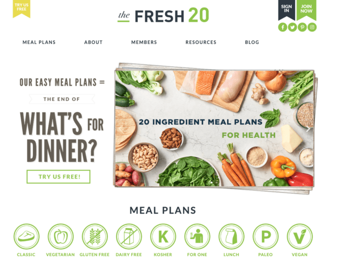 The Fresh 20 Meal Planning