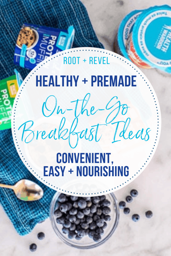 In need of a quick healthy breakfast on-the-go, with no time to cook yourself? In this post we've rounded up our favorite premade convenience foods that make for a complete meal and are ready in minutes (or less!).