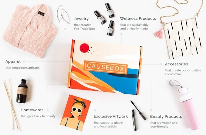 CAUSEBOX ethical goods subscription box