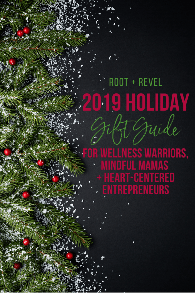 Looking for healthy yet fun holiday gift ideas for your friends and family? We've got 25 creative yet practical recommendations in this 2019 holiday gift guide! Whether you're shopping for the wellness warrior, domestic dame, green goddess, mindful mama, or heart-centered entrepreneur, or if you simply need some crowd-pleasers or healthy stocking stuffers ideas, you'll be sure to find something new and inspiring in this list! Plus, we've got tons of special discounts just for you AND $1,914 worth of incredible GIVEAWAYS!!