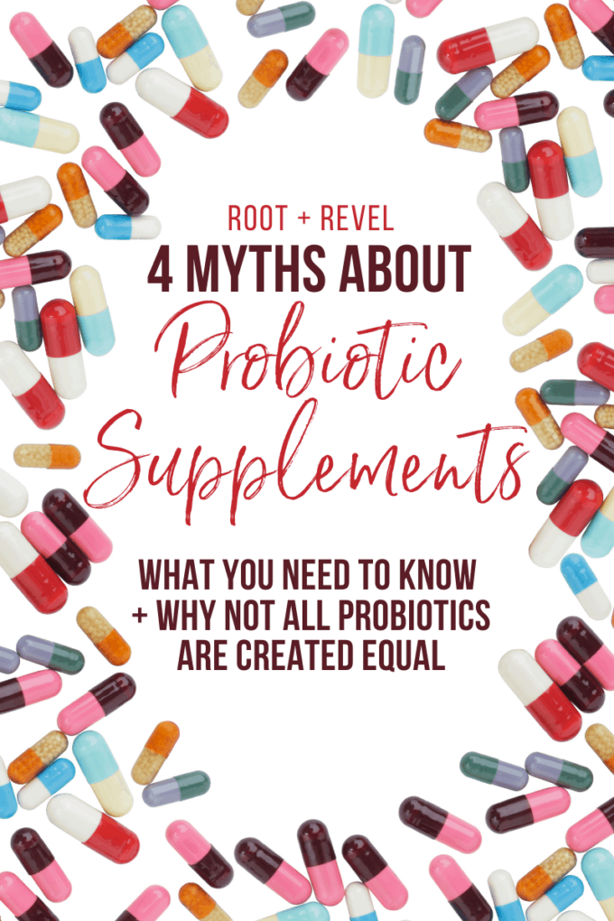 What are the best probiotic supplements that actually make a difference in your health? In this post we're debunking four common myths about probiotics and what to look for to ensure you're getting maximum benefits.