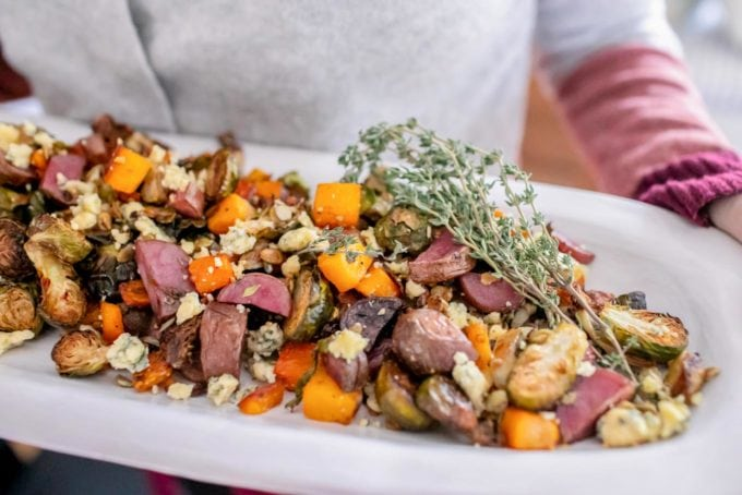 Maple Roasted Root Veggies Recipe + Pumpkin Seeds