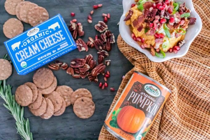 Looking for a quick, make-ahead, no-bake appetizer for your Thanksgiving gathering? This easy sweet and savory pumpkin dip comes together in just 15 minutes and will suit any crowd since it's gluten-free, keto-friendly, and easily adapted to be vegan-friendly, too!