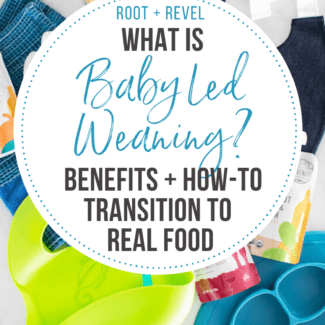 What in the world is baby led weaning (BLW)? If you're wondering when and how to transition your baby to starting their first foods, the answer is probably different than you think! In this beginner's guide we share the benefits of baby led weaning, give food recommendations, share a list of products and tools, along with tons of helpful tips and actionable advice like how to reduce the risk of your baby developing allergies.