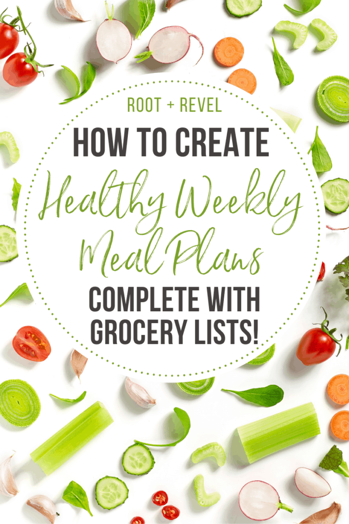 How to Create Healthy Weekly Meal Plans, Complete with Grocery Lists!