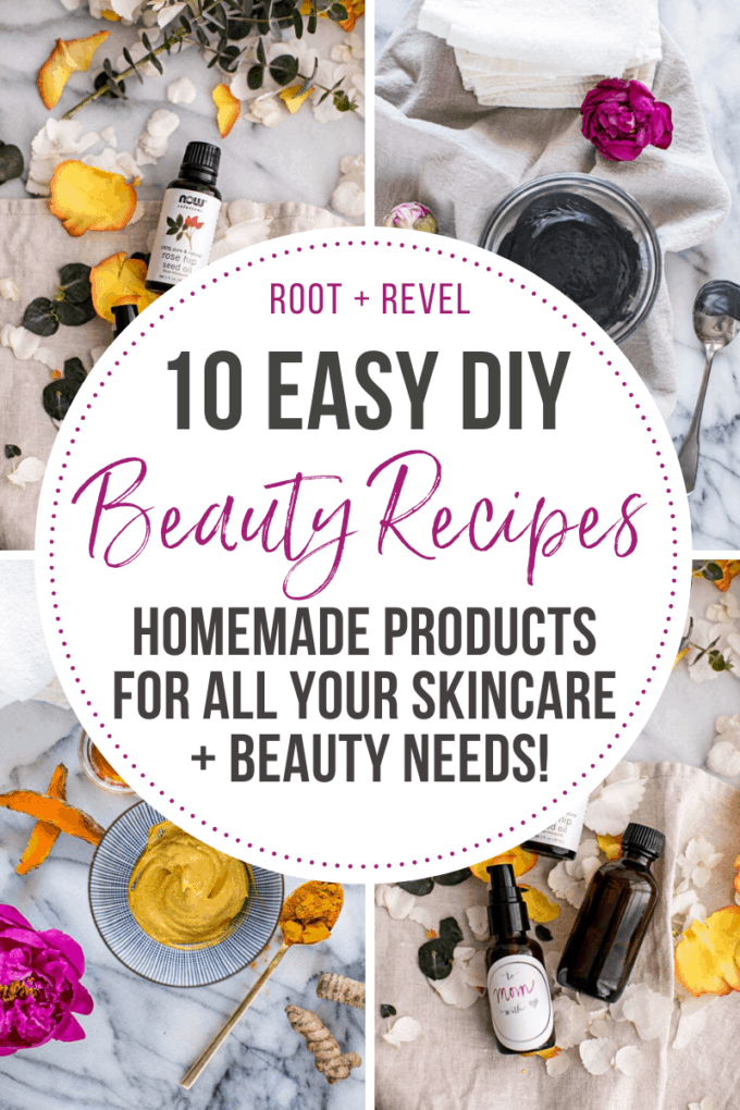 10 Easy DIY Beauty Products + Recipes for all your skincare and beauty needs!