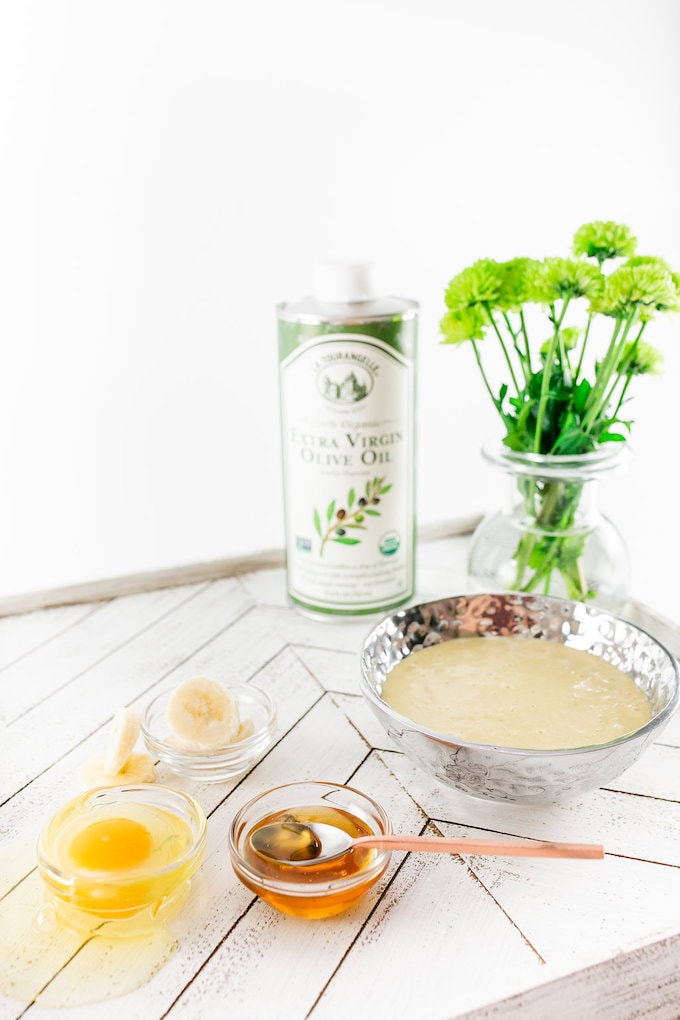 4 ingredients for a DIY Beauty Quick Fix Restorative Hair Mask.